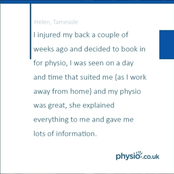 I injured my back a couple of weeks ago and booked into physio.