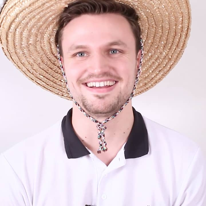 Portrait of Alex wearing sombrero